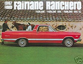 1967 FORD FAIRLANE RANCHERO SALES BROCHURE
