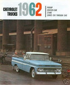 1962 CHEVROLET TRUCK SALES BROCHURE