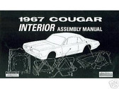 1967 67 MERCURY COUGAR INTERIOR ASSEMBLY MANUAL