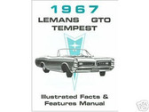 1967 67 PONTIAC GTO/ LEMANS ILLUSTRATED FACTS
