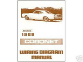 1968 68 DODGE CORONET WIRING DIAGRAM MANUAL