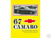 1967 67 CAMARO/SS/RS ILLUSTRATED FACTS