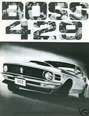 1970 70 MUSTANG BOSS 429 SALES BROCHURE
