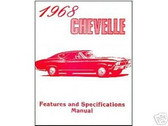 1968 68 CHEVROLET CHEVELLE ILLUSTRATED FACTS
