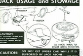 1969 COUGAR JACK INSTRUCTION DECAL-REG WHEEL