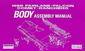1968 68 FORD FAIRLANE BODY ASSEMBLY MANUAL