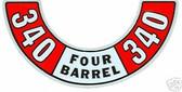 72 73 74 BARRACUDA /CHALLENGER 340 4 BARREL ACD