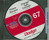 1967 DODGE CHARGER/ DART/CORONET SHOP/BODY MANUAL ON CD