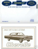 1964 64 CHEVELLE OWNER'S MANUAL AND COVER