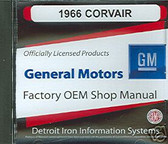 1966 CORVAIR SHOP/BODY/PARTS MANUAL ON CD