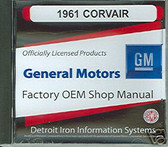 1961 CORVAIR SHOP & PARTS MANUAL ON CD