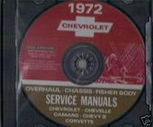 1972 CAMARO/SSCHEVELLE/SS SHOP BODY REPAIR MANUAL