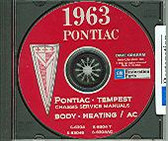 1963 PONTIAC TEMPEST SHOP/BODY MANUAL ON CD