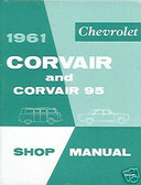 1961 CHEVY CORVAIR/ 95 SHOP MANUAL