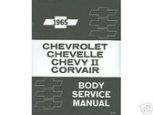 1965 65 CHEVELLE BODY REPAIR MANUAL