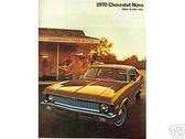 1970 70 CHEVY NOVA/SS SALES BROCHURE