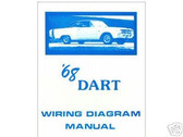 1968 68 DODGE DART WIRING DIAGRAM MANUAL