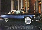 1956 FORD THUNDERBIRD SALES BROCHURE