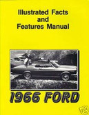 1966 FORD GALAXIE FACTS & FEATURE MANUAL