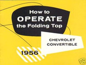 1956 CHEVROLET FOLDING TOP MANUAL