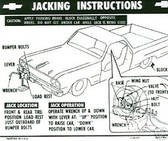 1964 1965 1966 EL CAMINO JACK INSTRUCTION NOTICE