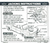 1967 CHEVY ll JACK INSTRUCTION DECAL