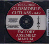 1965 66 67 68 CUTLASS/442 ASSEMBLY MANUAL ON CD