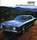 1970 CHEVROLET MONTE CARLO/SS SALES BROCHURE