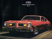 1974 PONTIAC GTO SALES BROCHURE