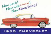 1955 CHEVROLET PASSENGER CAR SALES BROCHURE