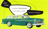 1955 CHEVROLET STATION WAGON SALES BROCHURE