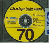 1970 DODGE CHALLENGER/DART SHOP/BODY MANUAL ON CD