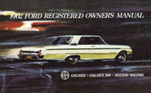 1962 FORD GALAXIE/500 CAR OWNER'S MANUAL