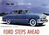 1951 FORD V-8/6 PASSENGER CAR SALES BROCHURE