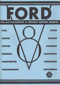 1937 1938 FORD CAR ENGINE & CHASSIS SHOP MANUAL
