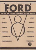 1939 1940 FORD CAR ENGINE & CHASSIS SHOP MANUAL
