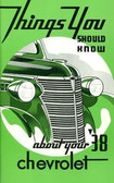 1938 CHEVROLET PASSENGER CAR OWNERS MANUAL