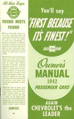 1942 CHEVROLET PASSENGER CAR OWNERS MANUAL