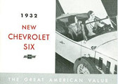 1932 CHEVROLET PASSENGER CAR SALES BROCHURE