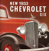 1933 CHEVROLET PASSENGER CAR SALES BROCHURE