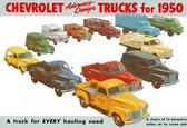 1950 CHEVROLET TRUCK SALES BROCHURE-FULL LINE