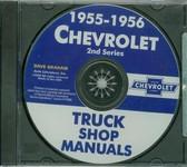 1955 56 CHEVROLET TRUCK SHOP REPAIR MANUAL ON CD-2ND