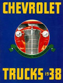 1938 CHEVROLET TRUCK SALES BROCHURE-FULL LINE-COLOR