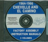 1964 65 66 CHEVELLE/ EL CAMINO ASSEMBLY MANUAL ON CD