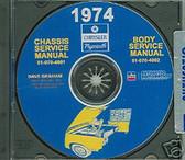 74 PLYMOUTH BARRACUDA/ROAD RUNNER SHOP/BODY MANUAL-CD