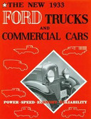 1933 FORD TRUCKS & COMMERICAL CARS SALES BROCHURE-75 HP V-8 & 50HP 4-CYLINDER