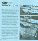 1965 66 67 68 69 FORD GT40 FACTS FOLDER