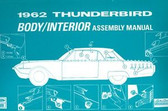 1962 FORD THUNDERBIRD BODY/INTERIOR ASSEMBLY MANUAL