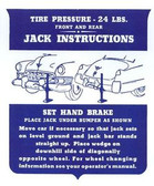 1949 CADILLAC JACK INSTRUCTION NOTICE
