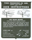 1951 52 CADILLAC JACK INSTRUCTION NOTICE
